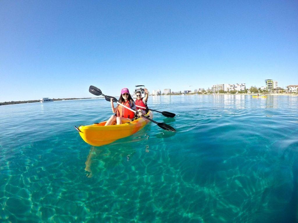 Kayaking around the Broadwaters