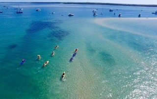 Paddling to South Straddie Island