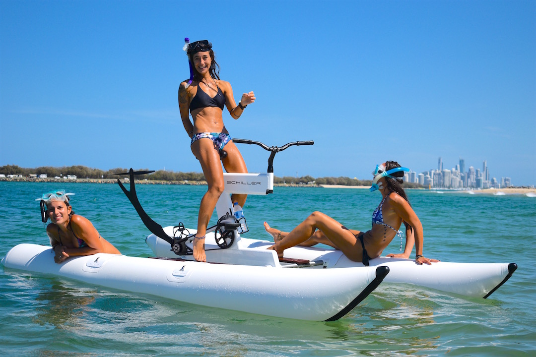 Water Biking and Snorkeling on Gold Coast secret reef