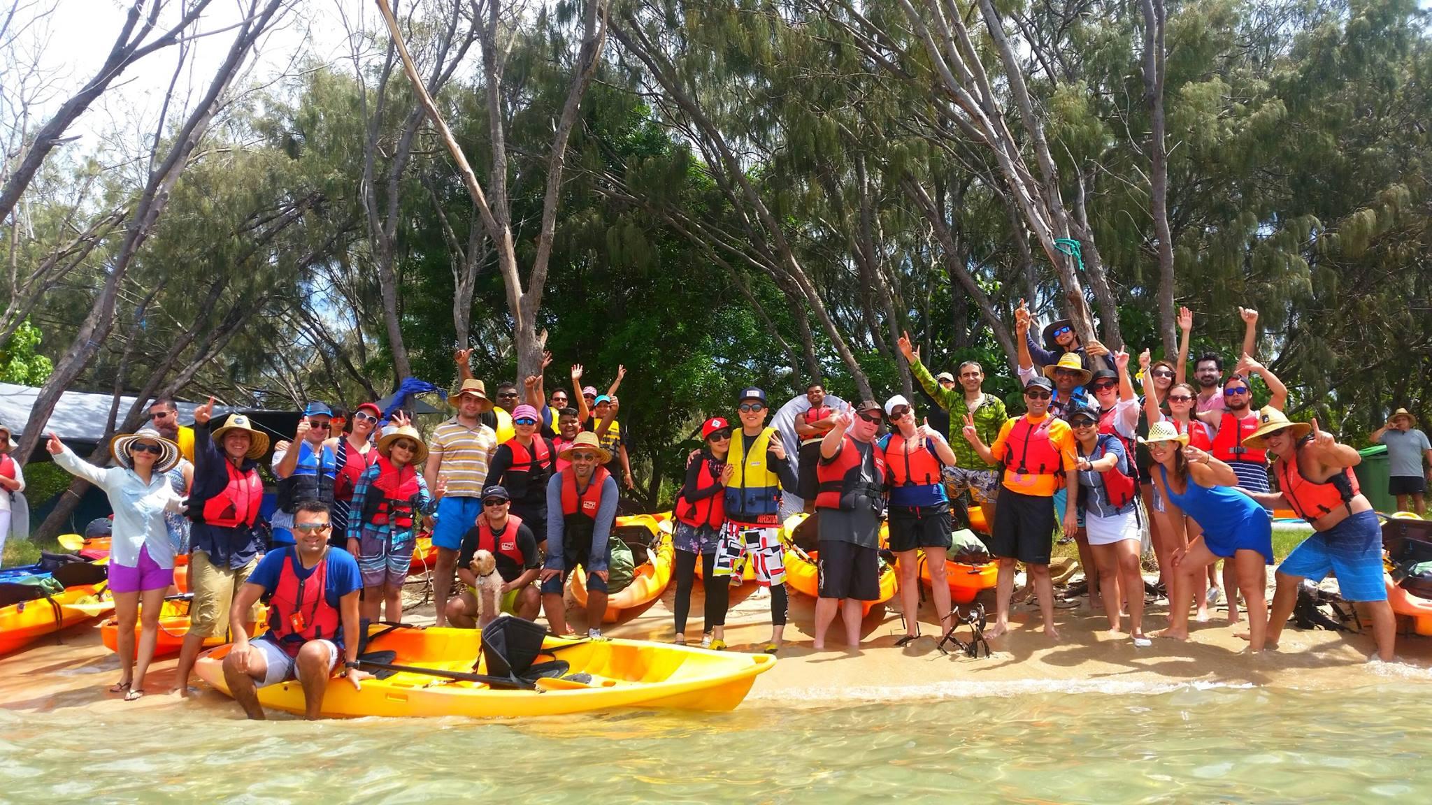 groupal kayaking photo