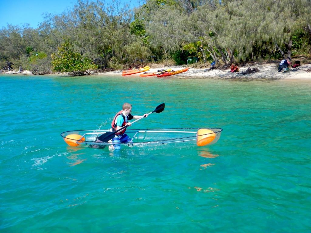 Clear bottom kayaking Gold Coast
