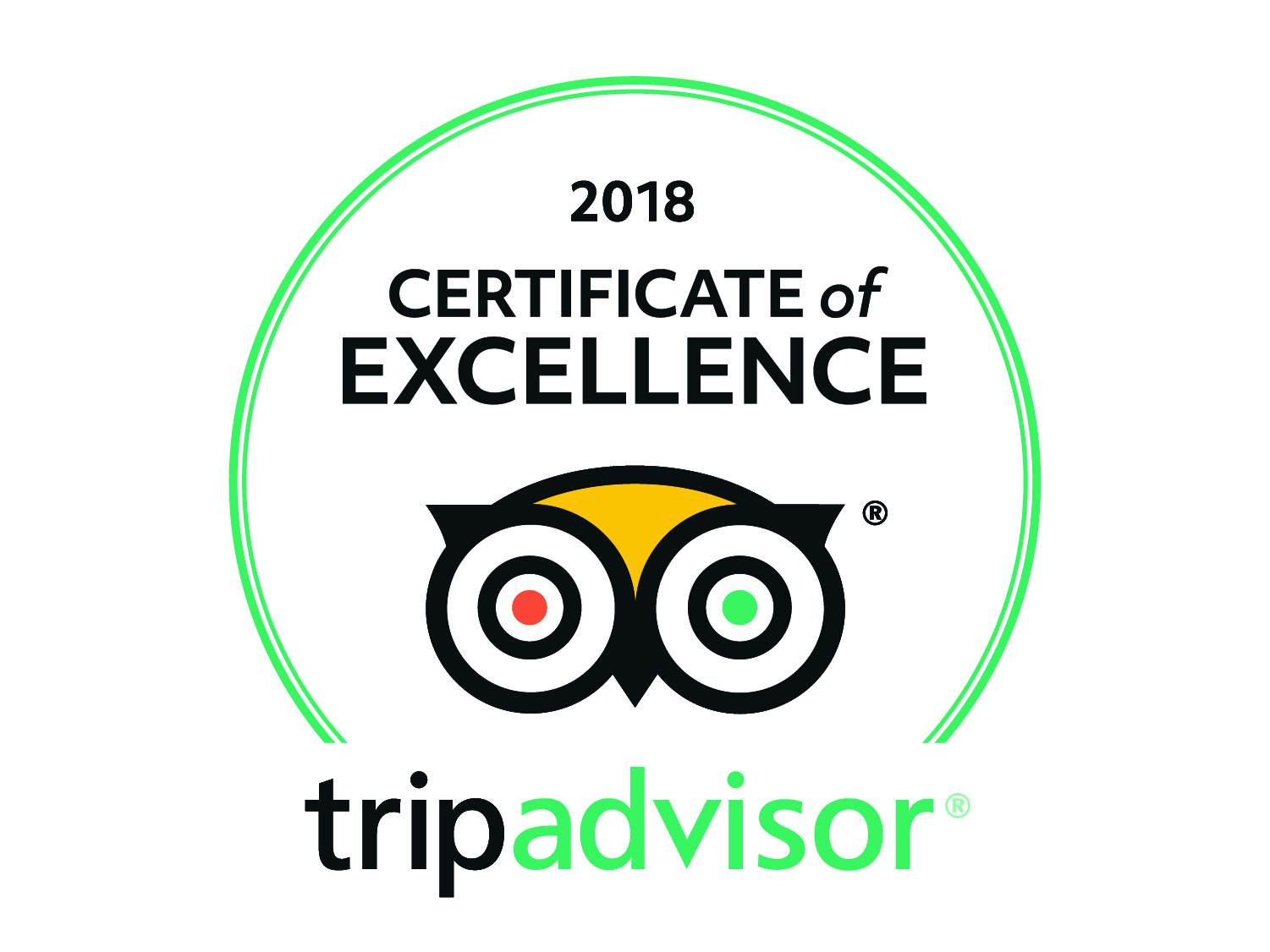Seaway Kayaking Tours Certificate of Excellence 2018