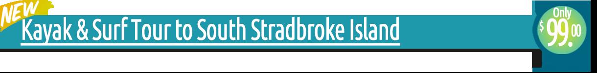 Kayak & Surf Tour to South Stradbroke Island