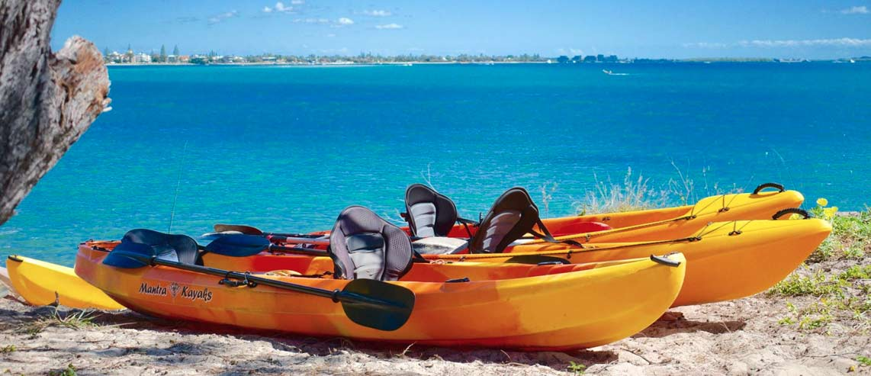 Kayak Hire on Wave Brake Island