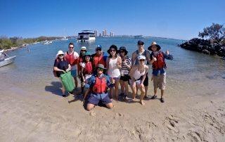 Kayaking to Wave Brake Island